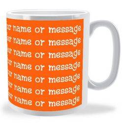 Personalised Full Colour Text Wraparound Mug