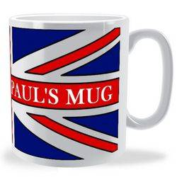 Personalised Traditional Union Jack Mug