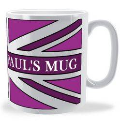Personalised Funky Union Jack Mug