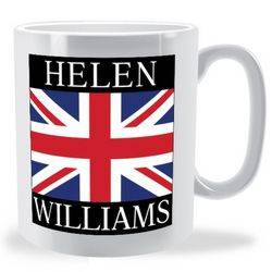 Personalised Firstname Surname Union Jack Mug