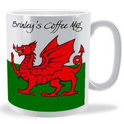 Personalised Welsh Flag Wrap Mug