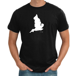 England Personalised Pin mens Map T shirt