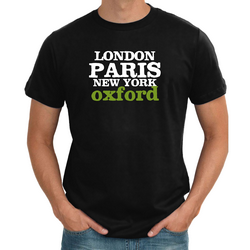 Personalised London Paris mens T shirt