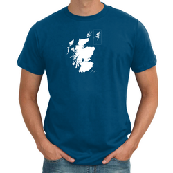 Scotland Personalised Pin Mens Map T shirt