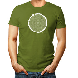 Tree Rings Mens Birthday T shirt Personalised