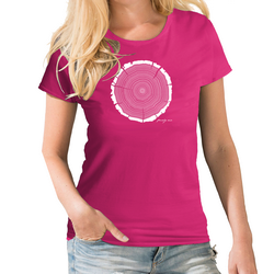 Tree Rings Personalised Womens Birthday T shirt