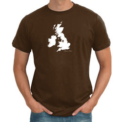 UK Personalised Pin Mens Map T shirt