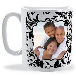 Personalised Filigree Photo Frame Mug