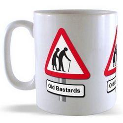 Old Bastards - Road Sign Mug