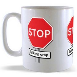 Talking Crap - Road Sign Mug
