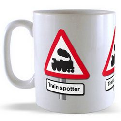 Trainspotter - Road Sign Mug