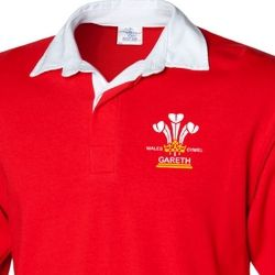 Mens Personalised 3 Feathers Welsh rugby shirt