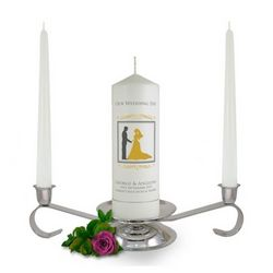 Personalised Bride & Groom Unity Candle Set