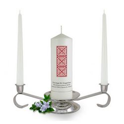 Personalised Celtic Column Unity Candle Set