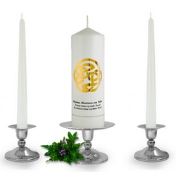 Personalised Celtic Spiral Unity Candle Set