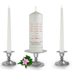 Personalised 1 Corinthians Unity Candle Set