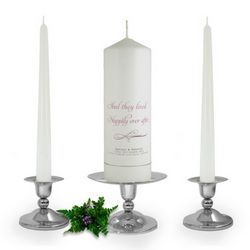 Personalised Happily Ever After Unity Candle Set