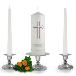 Personalised Holy Cross Unity Candle Set
