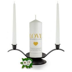 Personalised Love Friendship & Loyalty Unity Candle Set