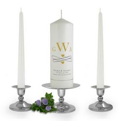 Personalised Monogram Unity Candle Set