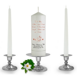 Personalised This Day Unity Candle Set