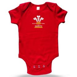 Personalised 3 Feathers Baby Grow Bodysuit