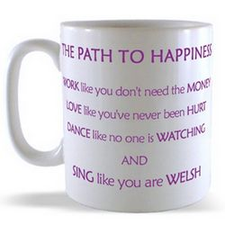 The Path To Happiness - Welsh Mug