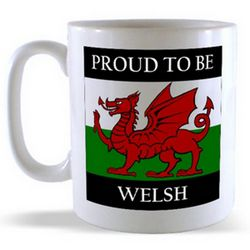 Proud to be Welsh and Square Welsh Flag Mug