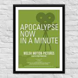 Apocalypse now in a Minute Welsh Film Poster
