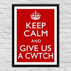 Keep Calm and Give us a Cwtch Welsh Film Poster
